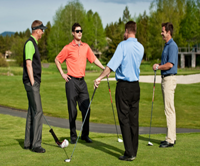 meeting new golfers